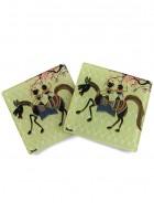 Kolorobia Rustic Warli Coasters-Set of 4