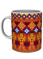 Kolorobia Dazzling Ikat White Printed Mug-Single