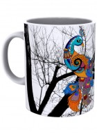 Kolorobia Peacock White Mug-Single