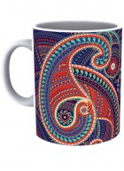 Kolorobia Majestic Paisley White Printed Mug-Single