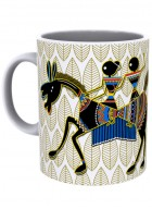 Kolorobia Rustic Warli Red Mug-Single