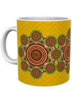 Kolorobia Brilliant Yellow Madhubani Mug-Single