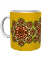 Kolorobia Brilliant Yellow Madhubani Mug-Single