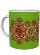 Kolorobia Soothing Green Madhubani Mug-Single