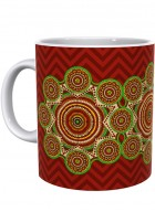 Kolorobia Bold Red Madhubani Mug-Single