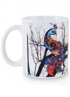 Kolorobia Dazzle Peocock White  Mug-Single