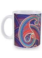 Kolorobia Majestic Paisley White Mug-Single