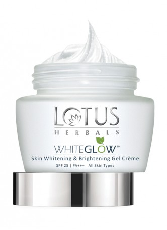 Lotus Herbals White Glow Skin Whitening And Brightening Gel Cream (Pack of 3)
