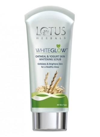 Lotus Herbals White Glow Oatmeal and Yogurt Skin Whitening Scrub (Pack of 3)