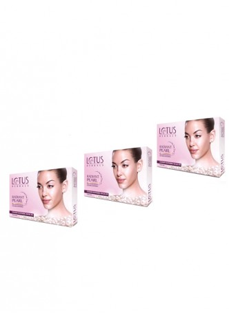 Lotus Herbals Radiant Pearl Cellular Lightening Facial Kit (Pack of 3)