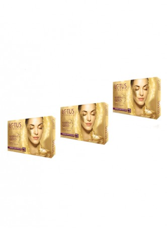 Lotus Herbals Radiant Gold Cellular Glow Facial Kit (Pack of 3)