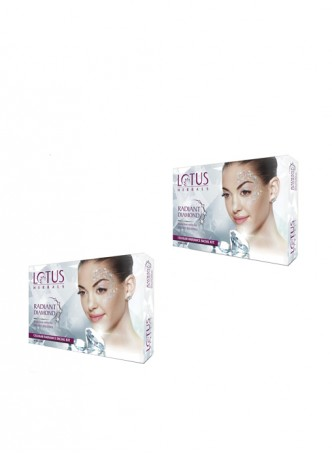 Lotus Herbals Radiant Diamond Cellular Radiance Facial Kit (Pack of 2)
