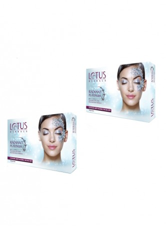 Lotus Herbals Radiant Platinum Cellular Anti-Ageing Facial Kit (Pack of 2)