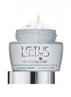 Lotus Herbals White Glow Skin Whitening and Brightening Nourishing Night Cream (Pack of 2)