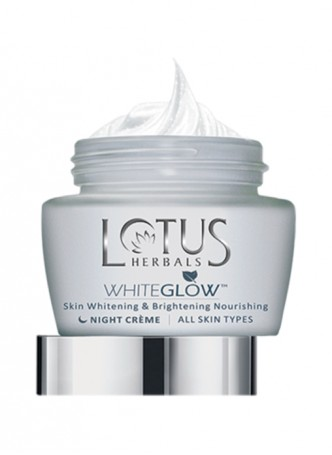 Lotus Herbals White Glow Skin Whitening and Brightening Nourishing Night Cream (Pack of 2)