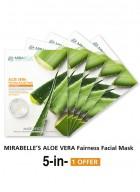 Mirabelle Korea Aloevera Fairness Facial Mask (Pack of 5)