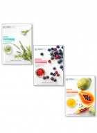 Mirabelle Korea Fairness Facial Mask (Herbs, Berries, Papaya - Combo pack of 3)
