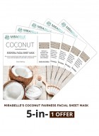 Mirabelle Korea Coconut Essential Facial Sheet Mask (Pack of 5)