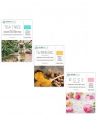 Mirabelle Korea Essential Facial Sheet Mask(Tea tree, Turmeric, Rose - Combo Pack of 3)