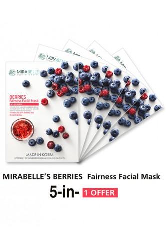 Mirabelle Korea Berries Fairness Facial Mask (Pack of 5)