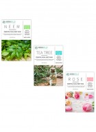 Mirabelle Korea Essential Facial Sheet Mask(Neem, Tea tree, Rose - Combo Pack of 3)