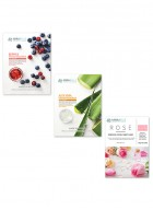 Mirabelle Korea Combination Skin Face Sheet Mask Combo Pack of 3