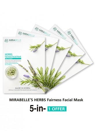 Mirabelle Korea Herbs Fairness Facial Mask (Pack of 5)