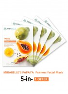 Mirabelle Korea Papaya Fairness Facial Mask (Pack of 5)