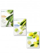 Mirabelle Korea Fairness Facial Mask (Aloevera, Cucumber, Lemon - Combo pack of 3)