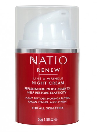 Natio Renew Line and Wrinkle Night Cream