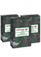 Natural Vibes Tea Tree and Activated charcoal soap pack of 3