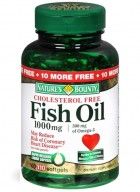 Natures Bounty Fish Oil 1000Mg Omega-3 Cholesterol 110 Softgel