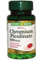 Natures Bounty Mega Chromium Picolinate 800 Mcg 50 Tablets