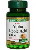 Natures Bounty Super Alpha Lipoic Acid 200 Mg 30 Capsules