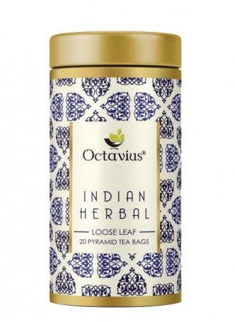 Octavius Indian Herbal Tea, Whole Leaf, Pyramid Tea Bags