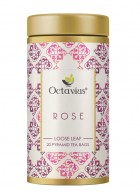 Octavius Rose Green Tea, Whole Leaf, Pyramid Tea Bags