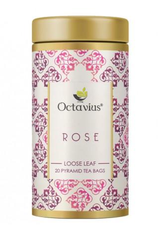 Octavius Rose Green Tea, Whole Leaf, Pyramid Tea Bags