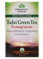 Organic India Tulsi Green Pomegranate Tea - 18 Tea Bags (2 Unit)