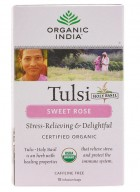 Organic India Tulsi Sweet Rose Infusion Tea - 18 Tea Bags (2 Unit)