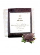 Raw Rituals Espresso Coffee and Milk Cream Body Scrub Bar (Pack of 2)