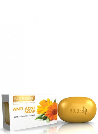 Richfeel Anti Acne Soap with Calendula Extracts Pack of 3
