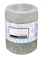 Rosemoore White Driftwood Scented Pillar Candle