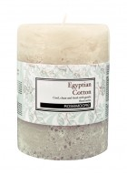 Rosemoore White Egyptian Cotton Scented Pillar Candle