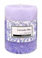 Rosemoore Blue Lavender Blue Scented Pillar Candle