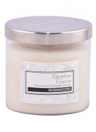 Rosemoore White Egyptian Cotton Scented Glass Candle Small