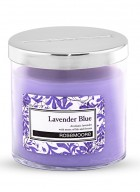 Rosemoore Blue Lavender Blue Scented Glass Candle Small