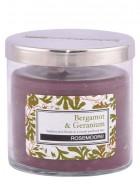 Rosemoore Green Bergamot and Geranium Scented Glass Candle Small