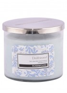 Rosemoore White Driftwood Scented Glass Candle Medium