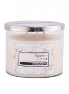 Rosemoore White Egyptian Cotton Scented Glass Candle Medium