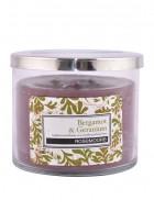 Rosemoore Green Bergamot and Geranium Scented Glass Candle Medium